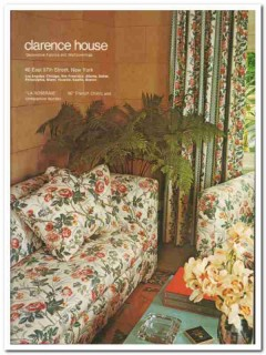 clarence house 1976 la roseraie french chintz fabric vintage ad