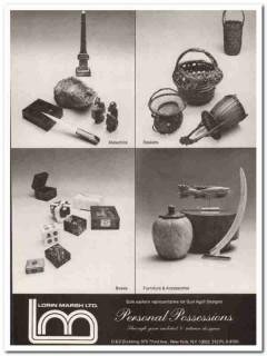 lorin marsh ltd 1976 personal possessions malachite boxes vintage ad