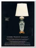 marbro lamp company 1976 diamant imported crystal waldinger vintage ad