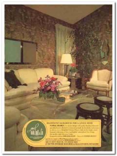 albert van luit company 1977 nuance wallcoverings fabrics vintage ad