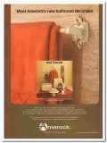 amerock corp 1977 bonaventure new bathroom decorator brown vintage ad