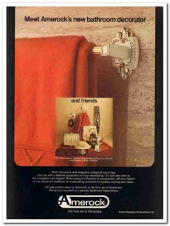 amerock corp 1977 bonaventure new bathroom decorator black vintage ad