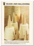 belgian linen association 1977 timeless flax wallcovering vintage ad