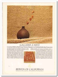 berven carpets california corp 1977 luxurious wall-to-wall vintage ad