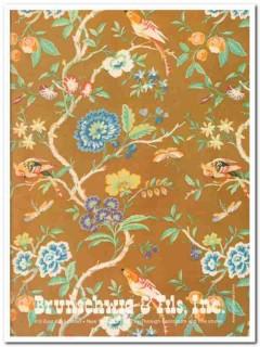 brunschwig fils inc 1977 amandine glazed chinz fabric vintage ad