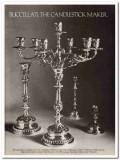 buccellati 1977 candlestick maker handmade sterling silver vintage ad