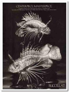 buccellati 1977 centerpiece masterpiece sterling silver vintage ad