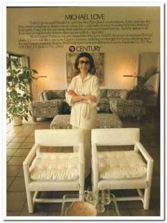 century furniture company 1977 michael love west palm beach vintage ad