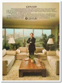 century furniture company 1977 john may central park south vintage ad