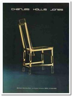 charles hollis jones 1977 highback lucite brass chair vintage ad