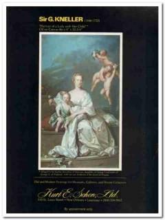 kurt e schon ltd 1977 sir g kneller portrait lady child art vintage ad