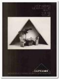 la pyramide 1977 stone table 1917 chairs custom furnishings vintage ad
