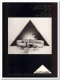 la pyramide 1977 army seating coffee table furnishings vintage ad