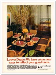louverdrape inc 1977 starlite reflective vertical blinds vintage ad