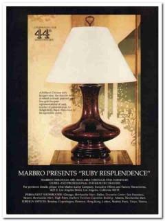 marbro lamp company 1977 ruby resplendence art waldinger vintage ad