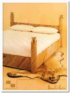 marcello mioni 1977 baldacchino reed brass four poster bed vintage ad