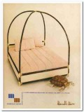 marcello mioni 1977 dome-shape canopy brass four poster bed vintage ad