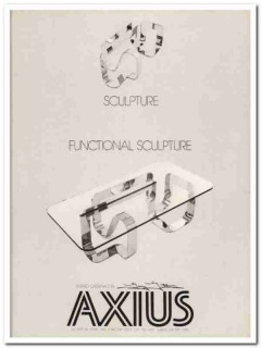 axius design inc 1977 two gutterman functional sculpture vintage ads