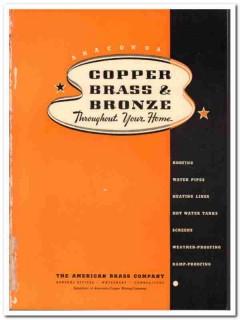 American Brass Company 1940 Vintage Catalog Anaconda Copper Bronze