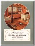 Armstrong Cork Company 1940 Vintage Catalog Floor Linoleum Linowall