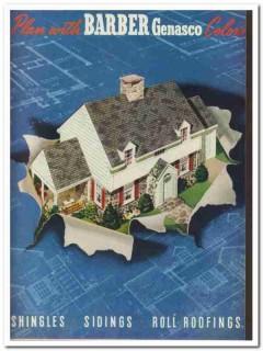 Barber Asphalt Corp 1940 Vintage Catalog Roofing Home Shingles Siding