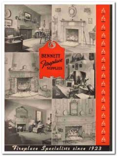 Bennett Fireplace Company 1940 Vintage Catalog Damper Fixtures Grilles