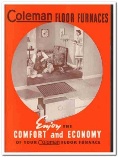 Coleman Lamp Stove Company 1940 Vintage Catalog Home Floor Furnaces