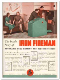 Iron Fireman Mfg Company 1940 Vintage Catalog Heating Coal Stoker