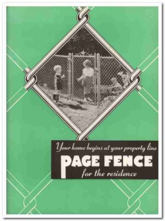 American Chain Cable Company 1940 Vintage Catalog Page Fence Residence
