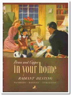 Chase Brass Copper Company 1948 Vintage Catalog Heating Home Radiant