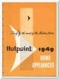 General Electric Company 1949 Vintage Catalog Appliances Hotpoint Home