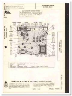 bradford chassis 8a53 9-tube am-fm stereo radio sams photofact manual