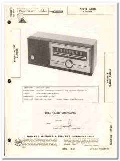 philco model k-910bk 6-tube fm radio receiver sams photofact manual