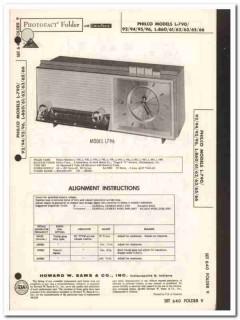 philco models l-79x l-86x 5-tube am radio clock sams photofact manual