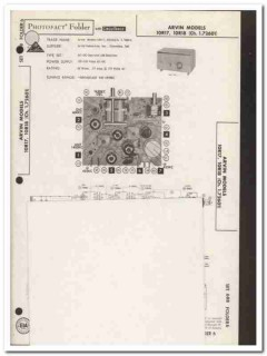arvin models 10r17 10r18 am radio receiver sams photofact manual