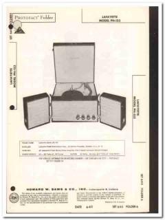 lafayette model ph-153 stereo record changer sams photofact manual