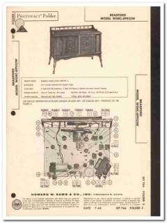bradford model wgec-89953w am fm stereo phono sams photofact manual