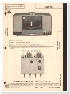 phonola model 4001 3-tube stereo record changer sams photofact manual