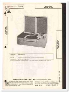 bradford model 61374 stereo phono record changer sams photofact manual