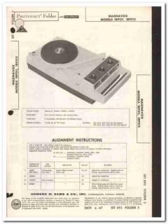 magnavox models1rp21x am radio record player sams photofact manual
