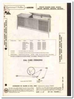 philco chassis q15stx qd15stx am fm stereo phono sams photofact manual