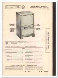 airline models wg-5002c 5003c 5102b 5103b tv sams photofact manual