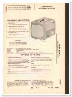 airline models grx-4030a grx-4130a tv television sams photofact manual