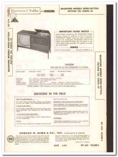 bradford models wgec-96735a 96743a tv television sams photofact manual