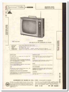 bradford models wgec-95174 95182 tv television sams photofact manual