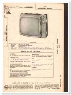amc models p619 p619-9u 35-tube tv television sams photofact manual
