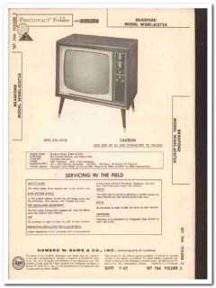 bradford model wgec-61572a 14-tube tv television sams photofact manual