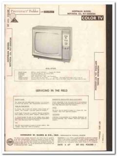 hoffman model wp7419a color tv television sams photofact manual