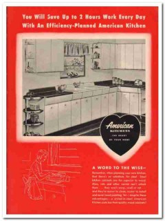 Avco Mfg Corp 1951 Vintage Catalog American Kitchens Planned Cabinets