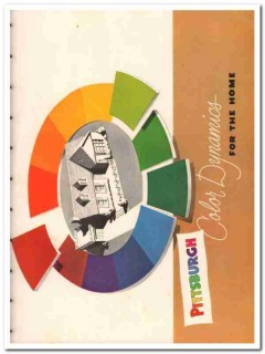 Pittsburgh Plate Glass Company 1951 Vintage Catalog Paint Home Color